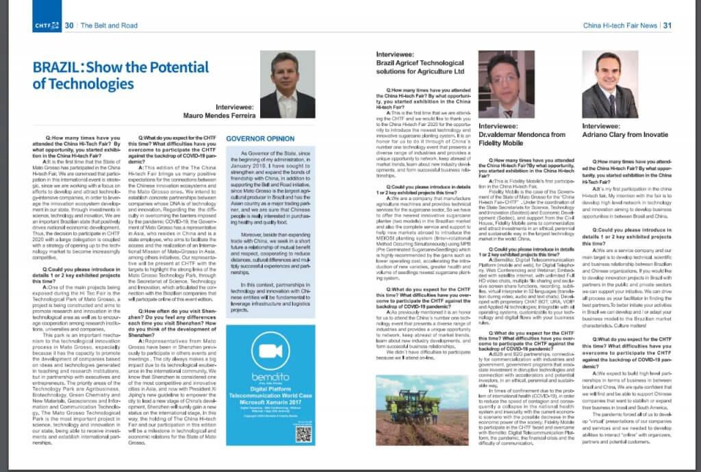 Inovatie na Revista da China High Tec Fair - Edição 1 - 2020